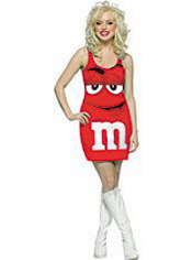 Red M&M Dress Costume Adult