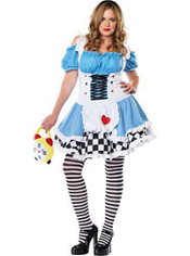 Plus Size Miss Wonderland Costume Adult