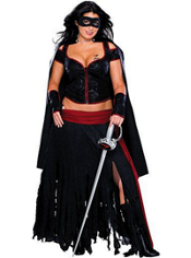 Plus Size Lady Zorro Costume Adult