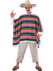 Mexican Serape and Sombrero Costume Adult