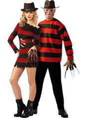 Miss Krueger and Freddy Krueger Nightmare on Elm Street Couples Costumes