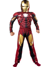Boys Mark VI Iron Man Muscle Costume