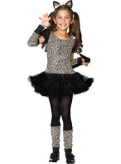 Little Leopard Costume Girls