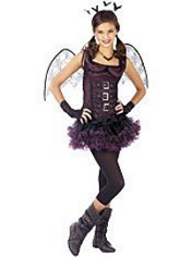 Dark Wing Bat Costume Girls