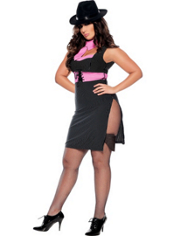 Plus Size Ms. Gangster Costume Adult