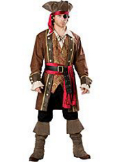 Captain Skullduggery Pirate Costume Adult Elite