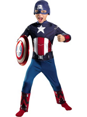 The Avengers Captain America Costume Boys Classic
