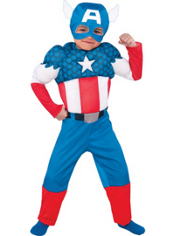 Captain America Muscle Costume Toddler Boys