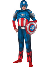 Captain America Muscle Costume Boys