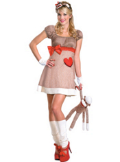 Sock Monkey Costume Adult Deluxe
