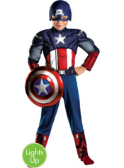 The Avengers Light-Up Captain America Muscle Costume Boys