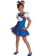 Blue and Red Hello Kitty Costume Girls