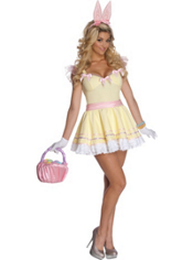 Egg-stra Cute Easter Bunny Costume Adult