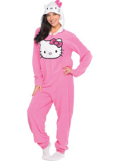 Hello Kitty One Piece Pajama Adult