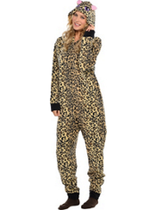 Leopard One Piece Pajama Adult