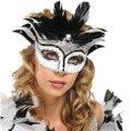 Starlight Venetian Feather Mardi Gras Mask