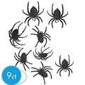 Glitter Spider Cutouts 9ct