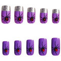 Press-On Spider Witch Nails