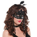 After Dark Feather Mask Adult