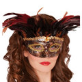 Animal Instinct Feather Mask Adult