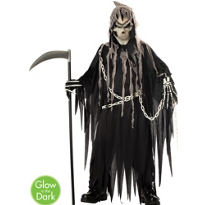 Glow in the Dark Grim Reaper Costume Boys