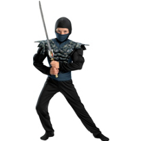 Night Camo Ninja Muscle Costume Boys
