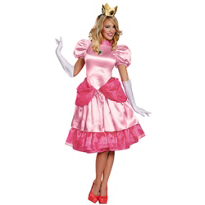 Adult Princess Peach Costume Deluxe